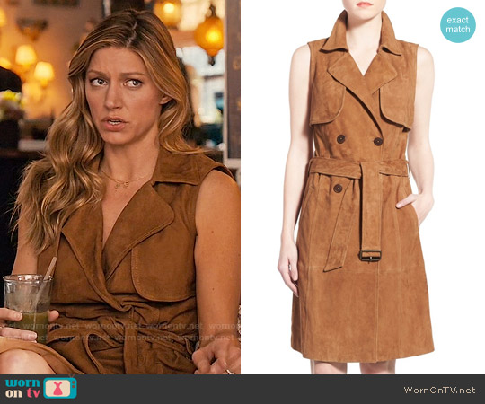 Olivia Palermo + Chelsea28 Sleeveless Suede Trench Dress worn by Jes Macallan on Mistresses