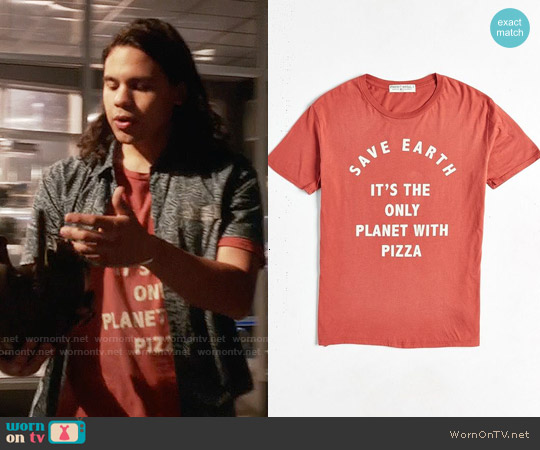 Project Social Pizza Tee worn by Carlos Valdes on The Flash