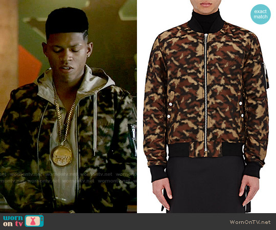 Public School Erek Camouflage Bomber Jacket worn by Bryshere Y. Gray on Empire