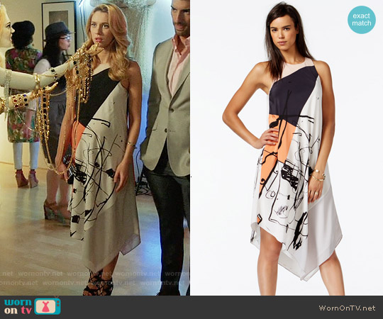 RACHEL Rachel Roy Printed Handkerchief Dress worn by Yael Grobglas on Jane the Virgin