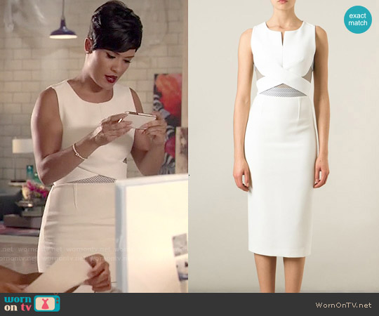 Roland Mouret Betley Dress worn by Grace Gealey on Empire