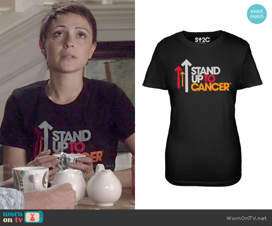 SU2C Full Logo Black Women's T-Shirt worn by Italia Ricci on Chasing Life