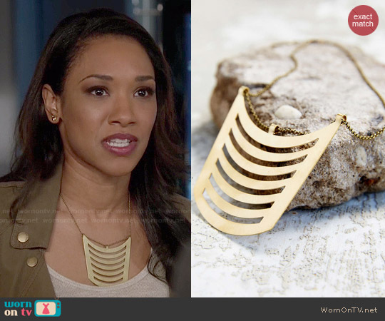 Seaworthy Geo Bib Pendant Necklace worn by Iris West on The Flash