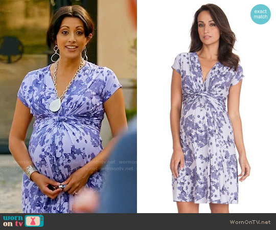 Seraphine Blossom Knot Front Maternity Dress worn by Reshma Shetty on Royal Pains