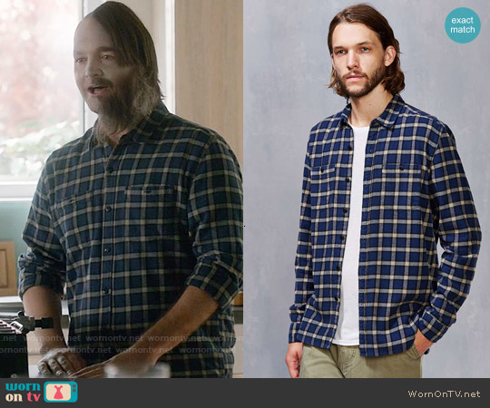 Stapleford Chico Plaid Flannel Button-Down Shirt worn by Will Forte on Last Man On Earth