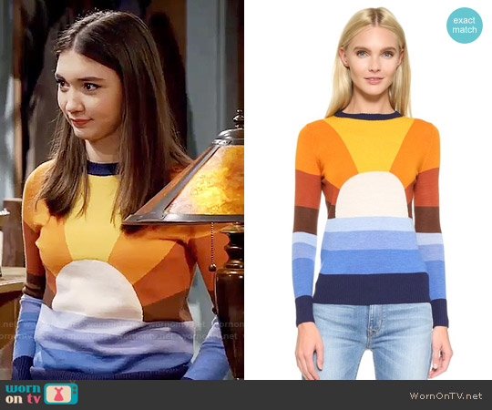 Stoned Immaculate California Dreamin Sweater worn by Rowan Blanchard on Girl Meets World