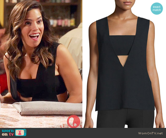 T by Alexander Wang Sleeveless Crepe Bandeau Top worn by Ana Ortiz on Devious Maids