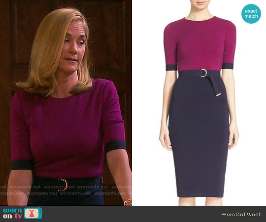 Ted Baker Wandee Dress worn by Kassie DePaiva on Days of our Lives