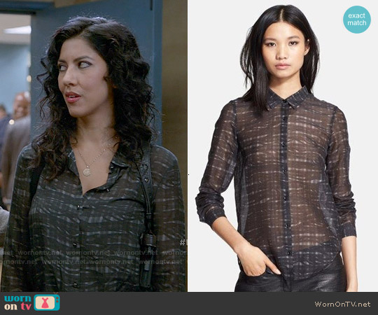 The Kooples Plaid Shirt worn by Stephanie Beatriz on Brooklyn Nine-Nine