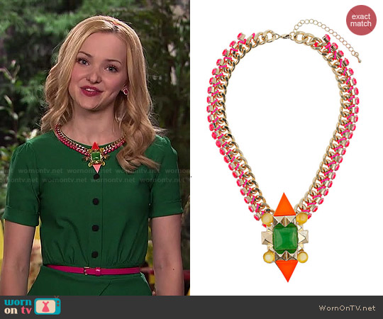 Topshop Multicolor Mixed Stone Collar worn by Liv Rooney on Liv & Maddie