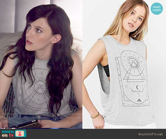 Truly Madly Deeply Mystical Chart Muscle Tee worn by Aubrey Peeples on Nashville