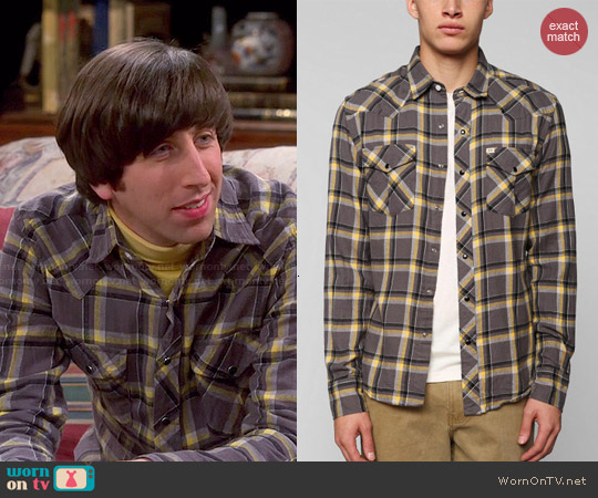 Salt Valley Eastwood Western Flannel Shirt worn by Simon Helberg on The Big Bang Theory