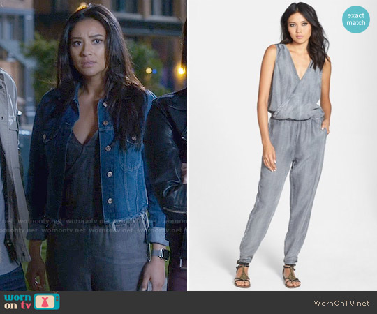 Velvet Heart Athena Jumpsuit worn by Shay Mitchell on PLL
