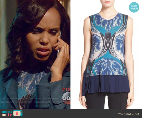 Yigal Azrouel Pleated Back Knit Top worn by Kerry Washington on Scandal