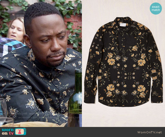 Your Neighbors Ornate Floral Button-Down Shirt worn by Lamorne Morris on New Girl
