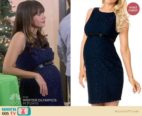 A Pea in the Pod Sleeveless Belted Maternity Dress worn by Rashida Jones on Parks & Rec