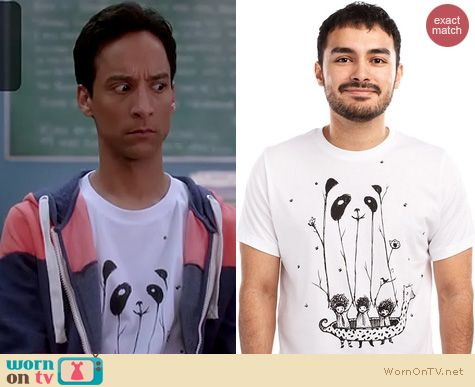 Abed's Tshirts on Community: Threadless 'Fake Pandas Have More Fun'