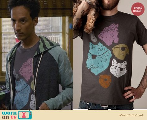Abed's Tshirts: Threadless Animals with Eyepatches Tee worn on Community