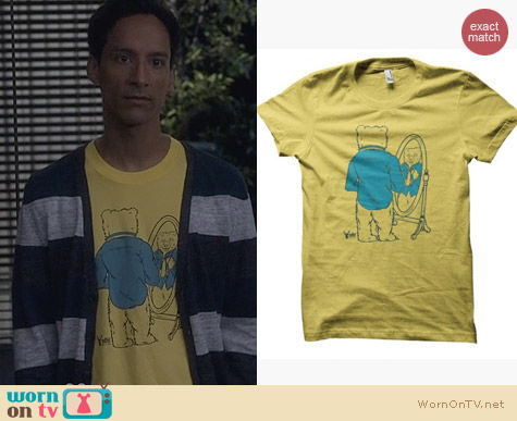 Community Fashion: ADHT 'Bears, Beets, Battlestar Galactica' Tee worn by Abed