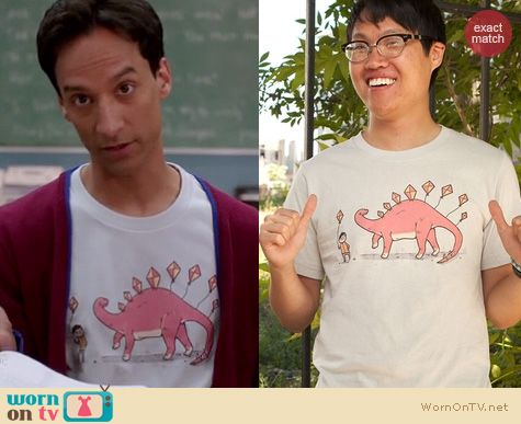 Abed's Tshirts on Community: Threadless Stego Soar shirt