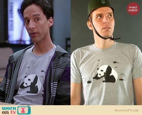 Abed's Tshirts on Community: Threadless 'Pandamonium' tee