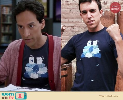 Abed's Tshirts on Community: Threadless 'Pillow Fight' tee