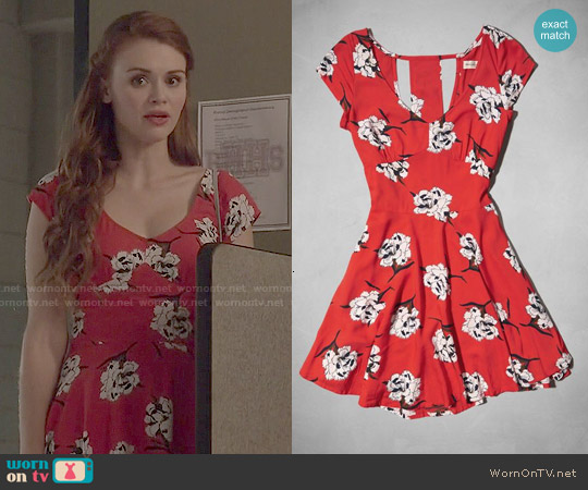 Abercrombie Floral Cutout Dress worn by Holland Roden on Teen Wolf