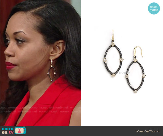 ABS by Allen Schwartz Orbital Earrings worn by Hilary Curtis on The Young & the Restless