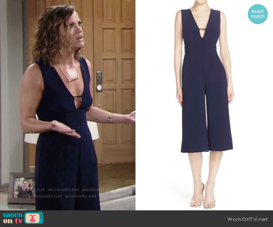 Adelyn Rae Sleevless Culotte Jumpsuit worn by Melissa Claire Egan on The Young & the Restless