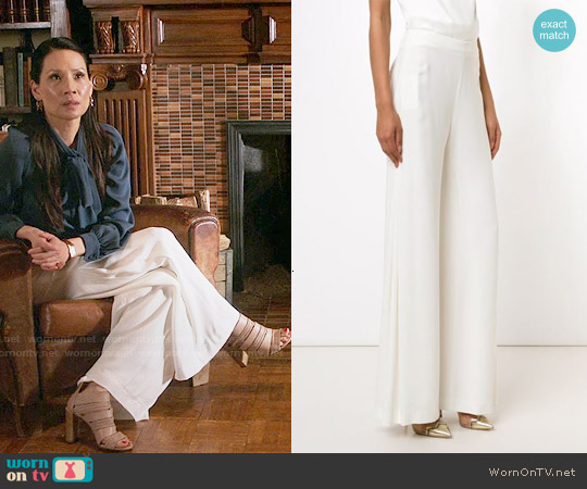 Adam Lippes Wide Leg Trousers worn by Joan Watson on Elementary