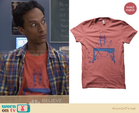 ADHT Late Night Entertainment Shirt worn by Danny Pudi on Community
