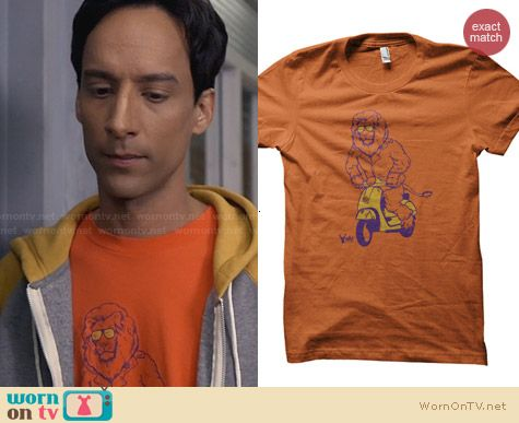ADHT Leo Without A Cause Shirt worn by Danny Pudi on Community