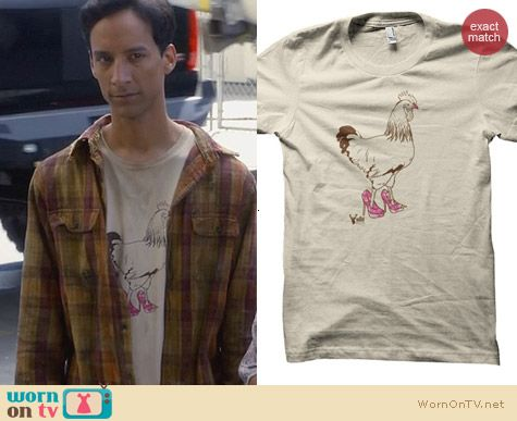 ADHT Shirts: Pretty Cock Tee worn by Abed Nadir on Community