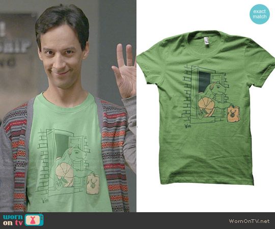 ADHT Shirts 'Slow and Steady Food' Tee worn by Danny Pudi on Community
