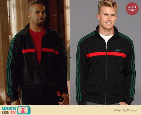 Adidas Adi Icon Track Jacket in Green worn by Damon Wayans on New Girl