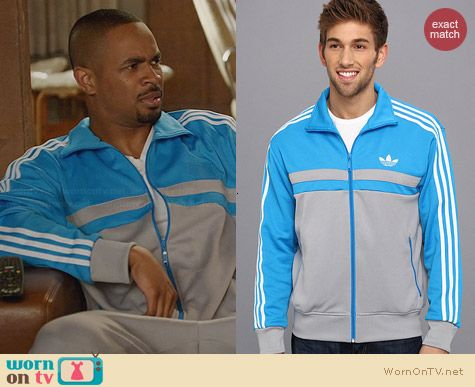 Adidas Originals Adi-Icon Track Top in Sonar Blue worn by Damon Wayans Jr on New Girl