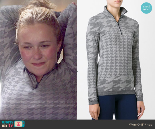 Adidas by Stella McCartney Houndstooth Pattern Sweater worn by Hayden Panettiere on Nashville