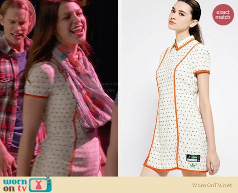 Adidas x Opening Ceremony Piped Tulip Dress worn by Melissa Benoist on Glee