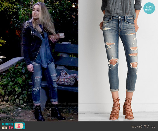AEO Denim x Jegging Crop worn by Maya Hart on Girl Meets World
