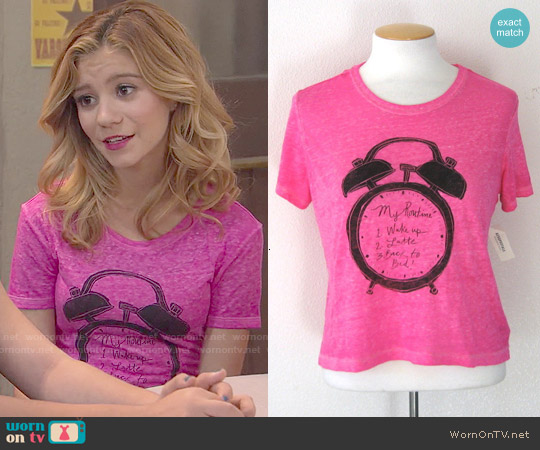 Aeropostale Bethany Mota My Routine Tee worn by G. Hannelius on Dog with a Blog