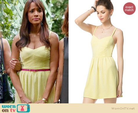 Aeropostale Dot Skater Dress worn by Dania Ramirez on Devious Maids