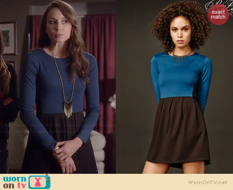 Aeropostale PLL Spencer Colorblocked Dress worn by Troian Bellisario on PLL