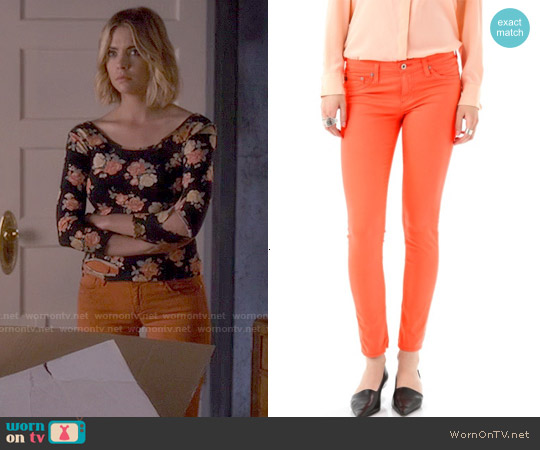AG Adriano Goldschmied Legging Jeans in Orange worn by Hanna Marin on PLL
