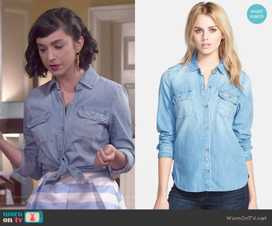 AG Dakota Shirt worn by  Molly Ephraim on Last Man Standing