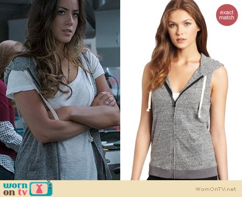 Agents of SHIELD Fashion: BCBGMAXAZRIA Sleeveless Hoodie worn by Chloe Bennett