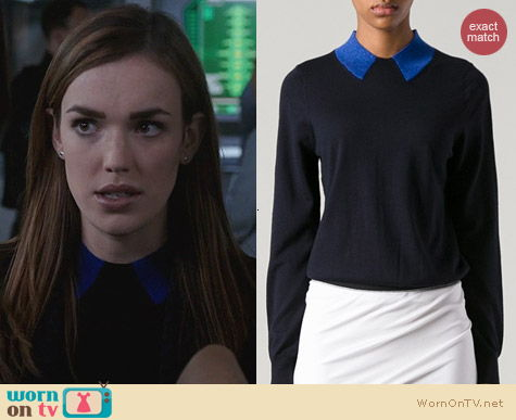 Agents of SHIELD Fashion: Marc by Marc Jacobs Contrast Collar Sweater worn by Elizabeth Henstridge