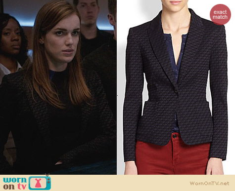 Agents of SHIELD Fashion: Marc by Marc Jacobs Loretta Jacquard Blazer worn by Elizabeth Henstridge