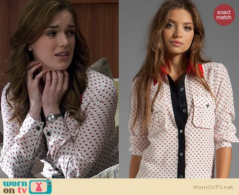 Agents of Shield Fashion: Marc by Marc Jacobs Vivie Shirt worn by Elizabeth Henstridge
