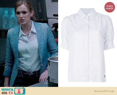 Agents of Shield Fashion: MIH Birkin Shirt in dot worn by Elizabeth Henstridge