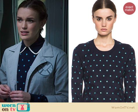 Agents of Shield Fashion: Opening Ceremony Sahara Sweater worn by Elizabeth Henstridge